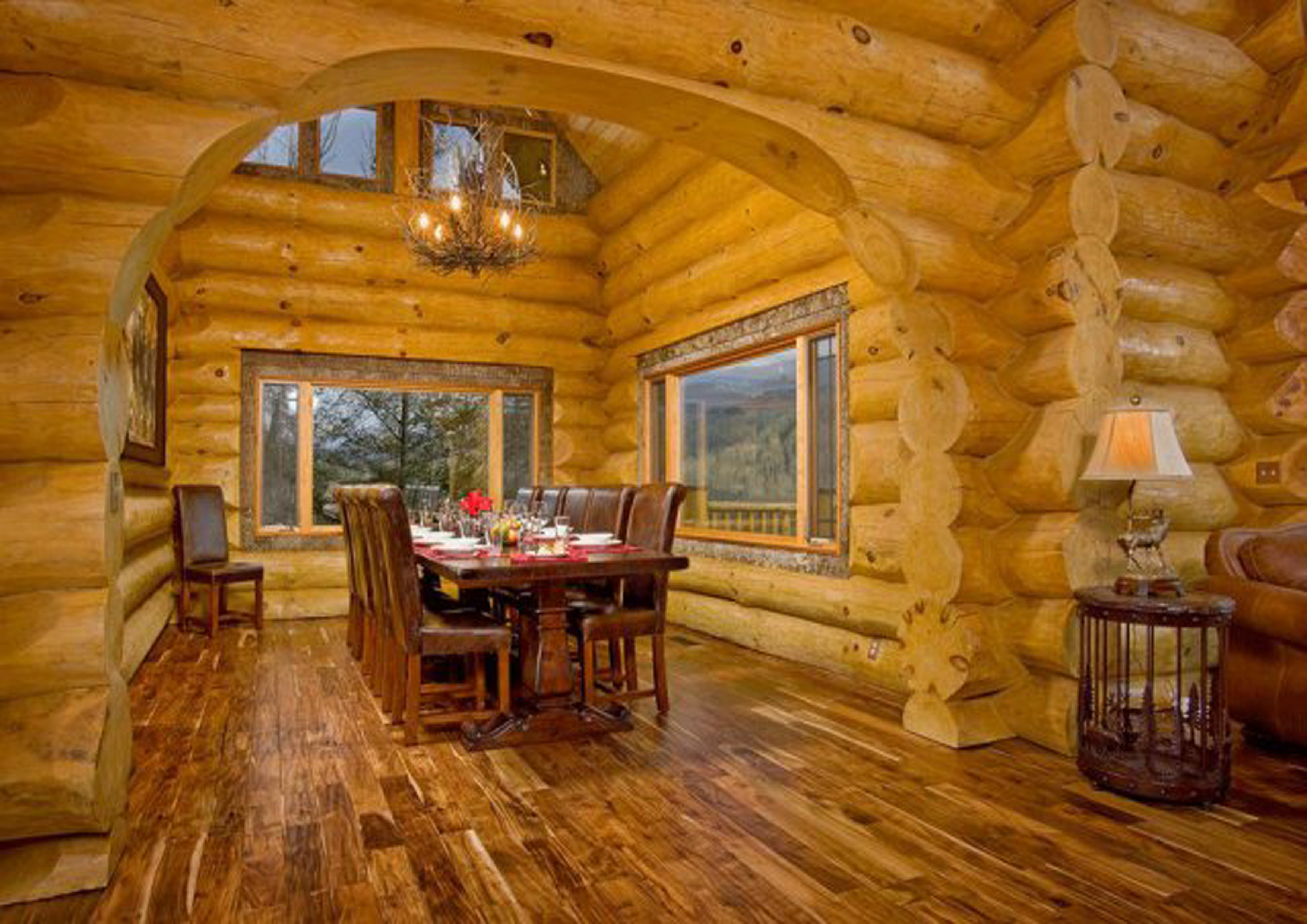 Дизайн проект деревянного дома из бревна внутри